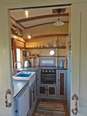 Kitchen with carpet