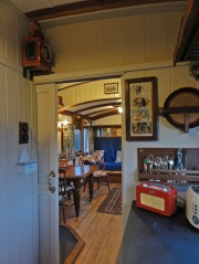 View kitchen to saloon